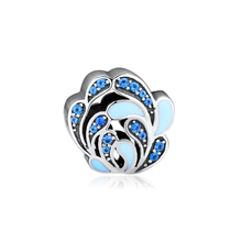 CKK Fits For Pandora Charms Bracelets Spraying Flowers Charm 100% 925 Sterling-Silver-Jewelry