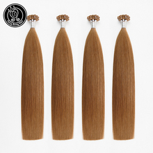 Fairy Remy Hair 0.8g/s Remy Flat Tip Human Hair Extensions Copper Shimmer Double Drawn Pre Bonded Hair On Keratin Capsules 80