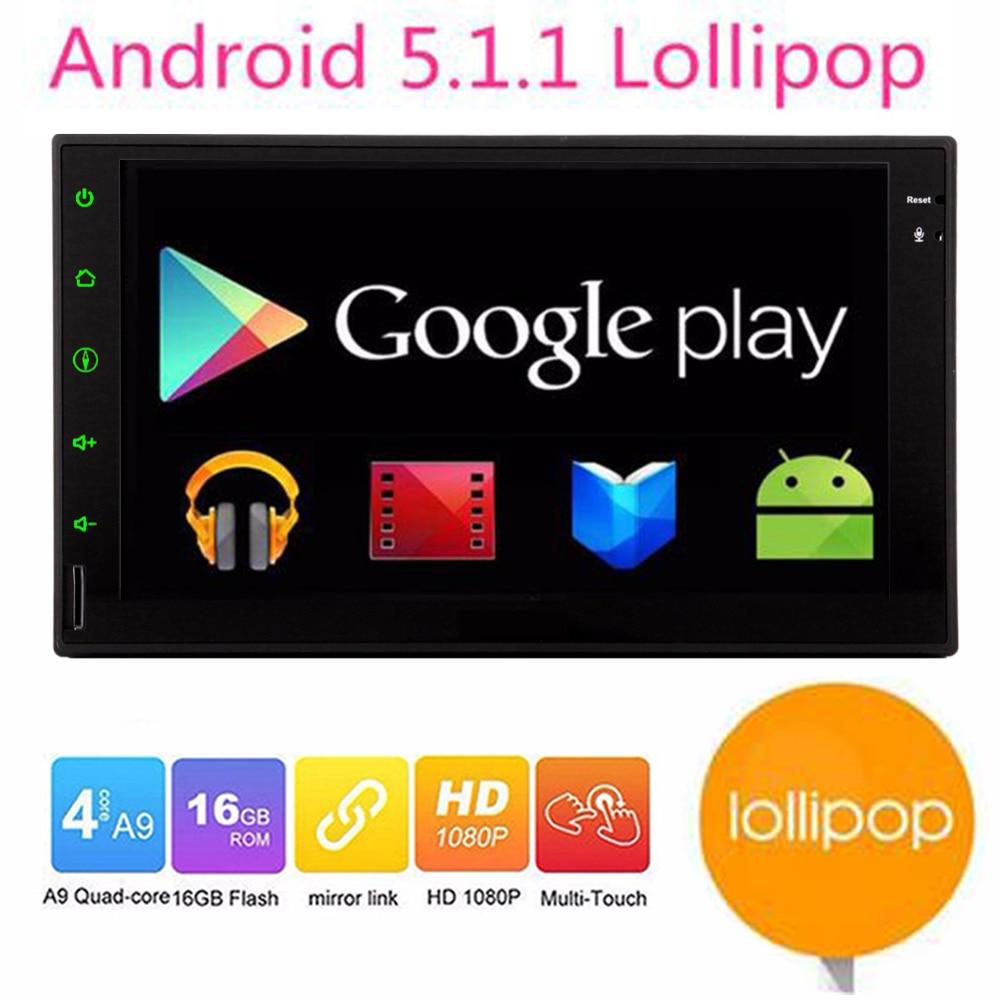 Android 5 1 car 2din Car Multimedia Player double din font b gps b font navigation