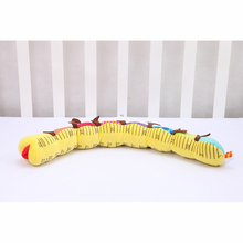 Baby Soft Caterpillar Plush Caterpillar Toy Rattle Musical Stuffed Toys Educational Doll Height Measure