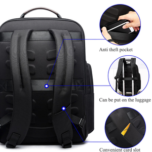 Image 3 - BOPAI Anti thief USB Charging 15.6 Inch Laptop Backpack for Women Men Cool Travel Backpack with Water Bottle Pocket Male Mochila