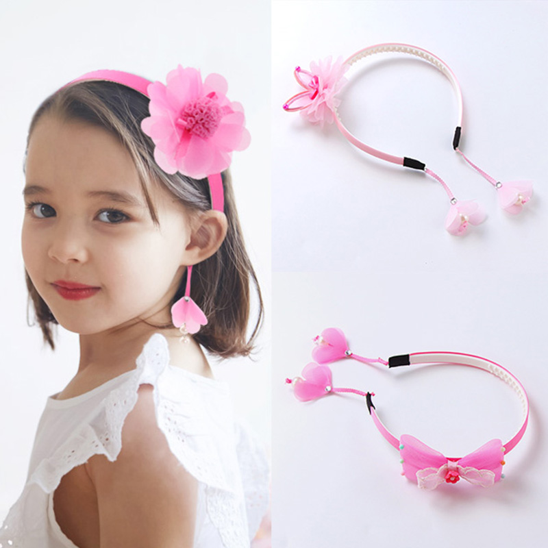 1PC New Girls Cute Beautiful Hairbands Rabbit Ears Flowers Lace Headbands For Children Hair Ornament Fashion Hair Accessories new girl lace rabbit ears headband floral strawberry knot tie headwrap vintage head wrap photo girls hair accessories children