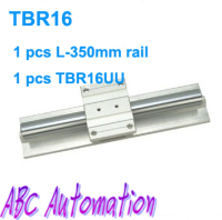 Chinese TBR16 1pcs TBR16 L350mm Support Linear Rails Shaft Guide 1 Pcs TBR16UU Linear Ball Bearing
