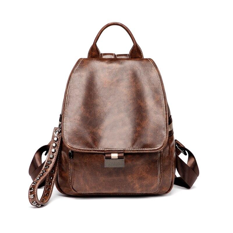 Backpack Women Leather Female Backpacks Teenager Girl School Bags Pu Bagpack Women Rucksack Ladies Sling Bag