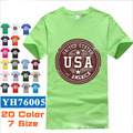 Nueva Marca de Ropa de Los Hombres camiseta Impresa O'neck Yeezy 100% Suelta de Algodón de Manga Corta Camisas del Mens Del Verano Tops Casuales Tees # V0