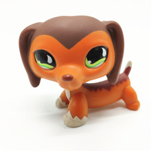 LPS Pet Shop New Rare Dachshund Brown Striped Red Dog Figure Collection Cosplay Mini Action Children Gift