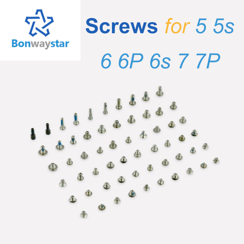 Screws Full Screw Set For IPhone 5 5S 6 7 Repair Bolt Complete Kit Replacement Repair Parts For Iphone Tails Screw
