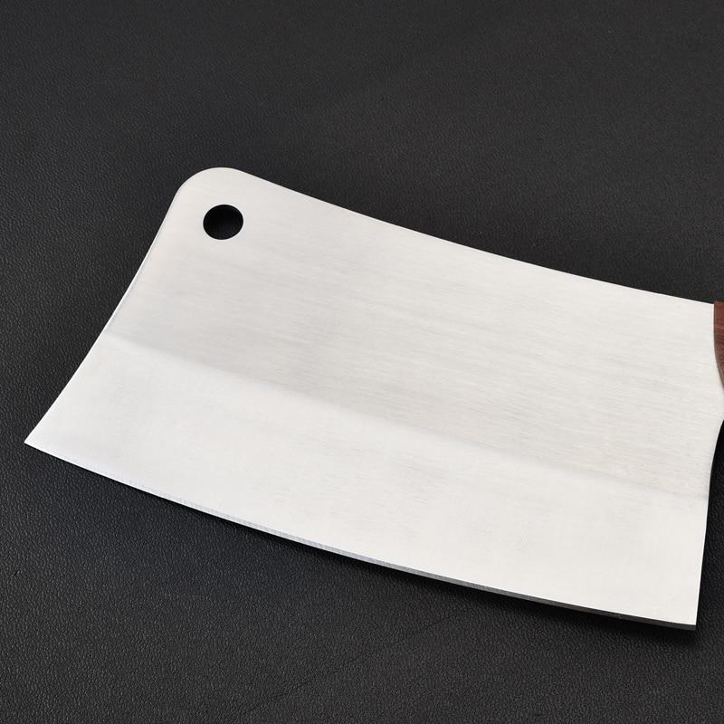Image 4 - プロフェッショナルナイフキッチンチョッピングシェフナイフステンレス鋼木製ハンドル骨カッター肉包丁スライサー野菜ナイフ    グループ上の ホーム