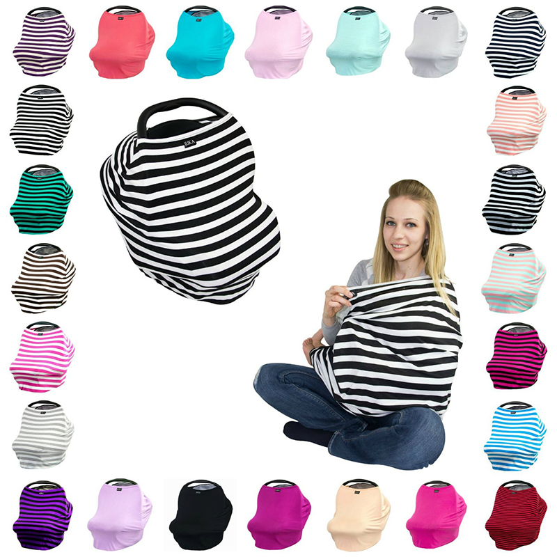 Baby Car Seat Cover Canpany Nursing Breast feeding Cover Multi-Use Stretchy Infinity Scarf Shopping Cart baby High Chair Cover
