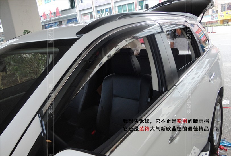 High Quality! Side Window Visor Deflector Sun/Rain Guard Shield Vent Trim For 2013 2014 Mitsubishi Outlander 13 14 цены