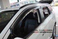 Yüksek Kalite! yan pencere güneşlik deflektör sun/yağmur guard shield vent trim 2013 2014 mitsubishi outlander 13 14 için