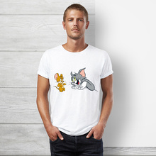 Seestern brand Summer New men women white Jerry mouse t shirt cute t-shirt Comic Tom cat lovely cartoon tshirt tom and jerry top