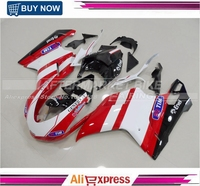 Red And White 1098 1198 848 Aftermarket Motorcycle Fairing Set For Ducati ABS Bodywork Cowling