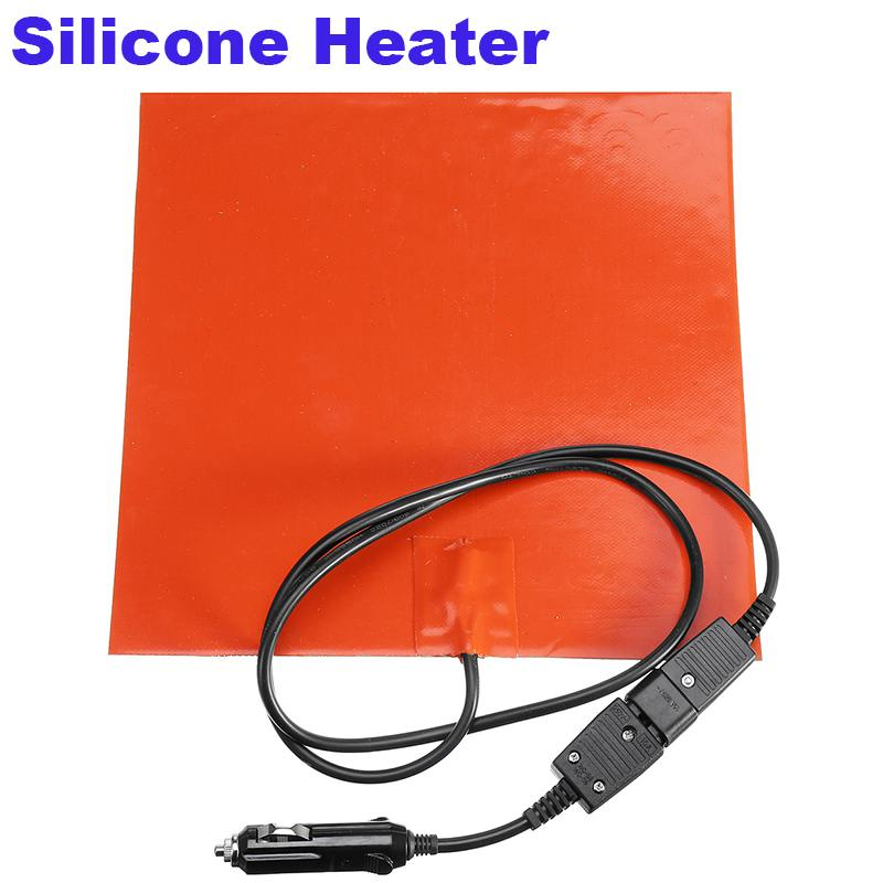 28x28cm 150W Silicone Heater Blanket For Food Delivery Bag Heating 12V Silicone Electric Heating Pads Tape Mat Element Hot Pad