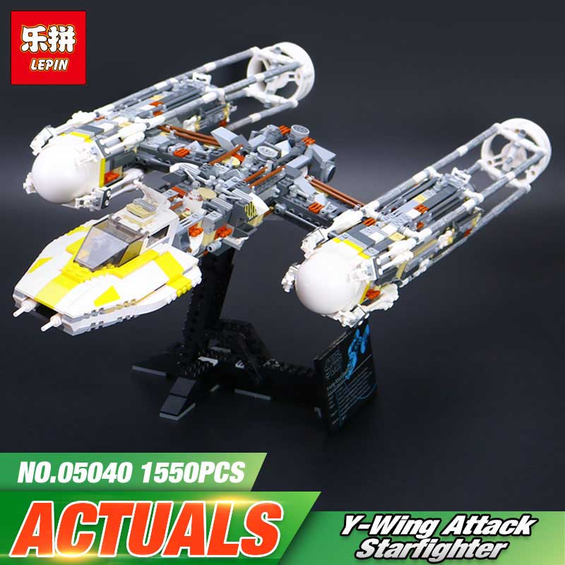 Lepin 05040 Star Series Wars The Y Set Wing Attack Star Model fighter Building Blocks Assembled bricks Toys legoINGlys 10134 lepin 05040 star wars y wing attack starfighter model building kits blocks brick toys compatiable with lego kid gift set
