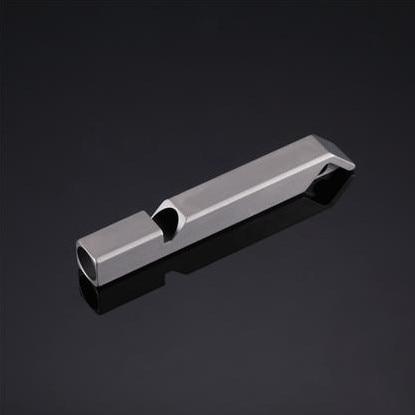 Nitecore NWS10ไทเทเนียมฉุกเฉินนกหวีดสร้อยคอจี้กลางแจ้ง120dBพร้อมพวงกุญแจ + จัดส่งฟรี