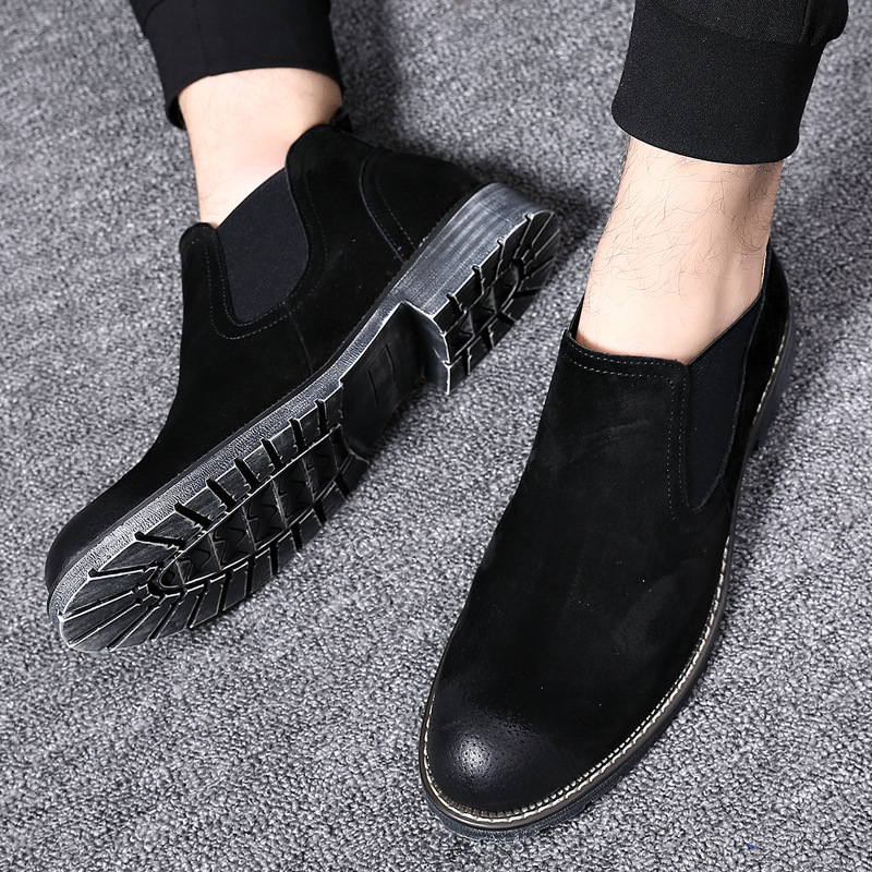 New Fashion Men Chelsea Boots winter Autumn Casual Oxford Style Ankle Boots male cow suede round toe Formal Dress Shoes new british style real top cow leather boots qshoes mens business dress casual fashion men personalized round toe boot y97 663