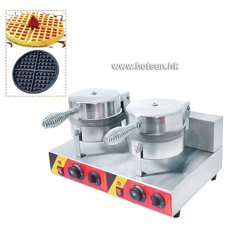 Commercial Non-stick 110V 220V Electric 17cm Dual Double Waffle Maker Iron Machine