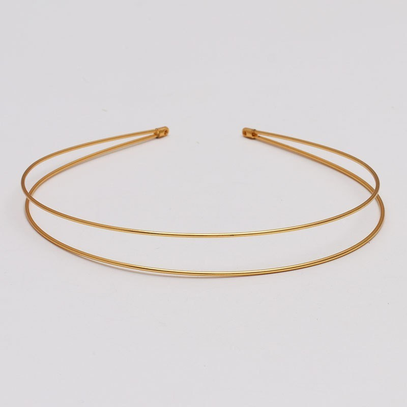 Double-Layer Metal Headbands Hair Hoop Headbands  MM Hair Accessory DIY Sliver Gold  Wholesale DIY Girls Hair Clip