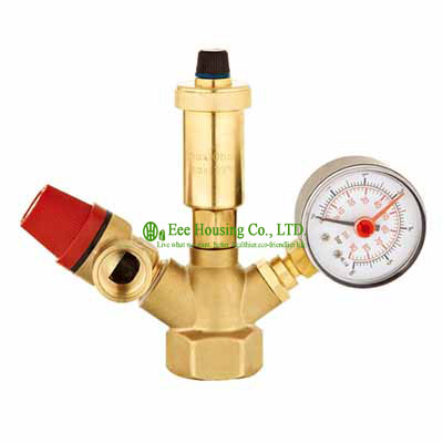 Free Shipping Brass Safety Valve,Safety Group Set,Air Vent Valve,Boiler Valve,1.5 Bar And 3 Bar Safety Valve,Use For Boiler