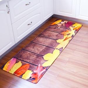 Image 3 - 60x180CM Kitchen Rug Antiskid Mat for Kitchen Floor Long Door Mat Vintage Style Kitchen Rug Non Slip Bedroom Bedside Mats