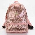 New 2016 Cute Casual Women Colorful Canvas Backpacks Girl Student School Travel bags Mochila Women Big Bag paillette bling bag