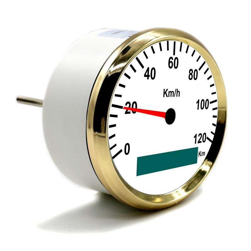 85mm GPS Speedometer 0 120Km/h Stainless Waterproof Digital