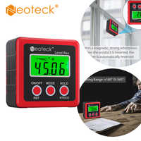 Neoteck Aluminum AlloyMini Digital Protractor Inclinometer Electronic Level Box Magnetic Base Measuring Tools Angle Finder