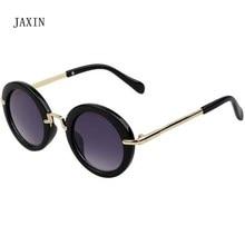 JAXIN 2019 oculos Round retro Sunglasses Kids Fashion wild Sun Glasses Girl trend cute goggles baby favorite UV400 gafas de sol