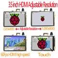 Raspberry pi 3.5 дюймов hdmi LCD сенсорный сенсорный экран 60 кадров в секунду высокая скорость 3.5 inch лучше, чем 5 дюймов и 7 дюймовый