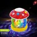 Детские игрушки мини-гриб барабан музыка световой раннего детства обучающие дети детские динамический погладить вращения барабана