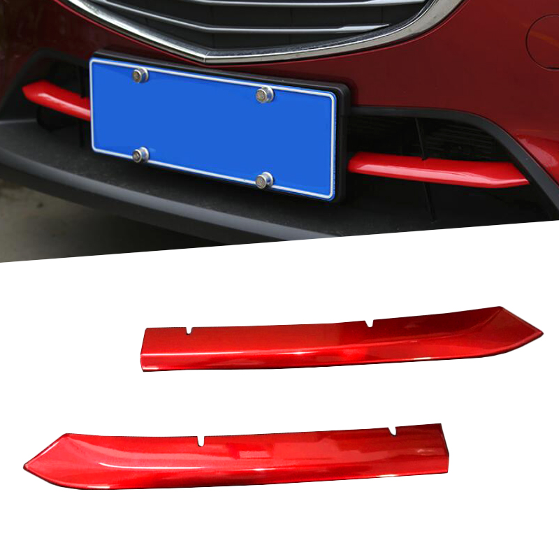 Car Front Grille Trims Cover Front Bumper Air-inlet Grille Car <font><b>Accessories</b></font> Styling stickers For <font><b>Mazda</b></font> CX-<font><b>3</b></font> CX3 2017 <font><b>2018</b></font> image
