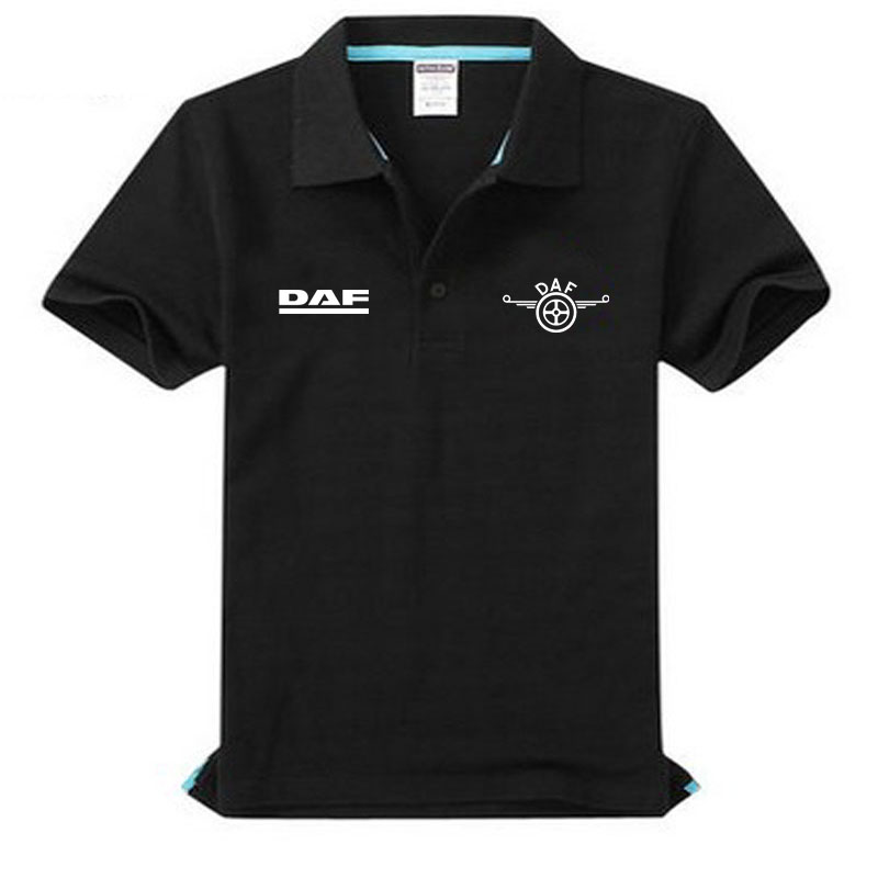 Brand clothing Daf logo   Polo   Shirt Casual solid male   polo   shirt Short Sleeve High quality
