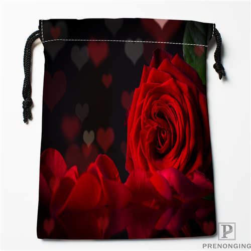 Drawstring Shopping Bags Travel Storage Pouch Swim Hiking Toy Bag Unisex Multi Size19-01-04-52 Rapid Heat Dissipation 1 Custom Printing Rose