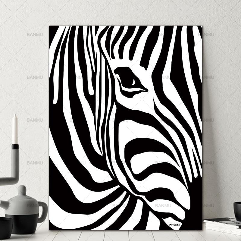 Leinwand Malerei Druckt Keine Rahmen Skandinavischen Zebra Streifen ...