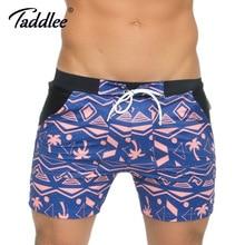 Swimsuits Shorts Boxer-Trunks Swimwear Surfing Taddlee Men's New Brand Xxl-Board Basic