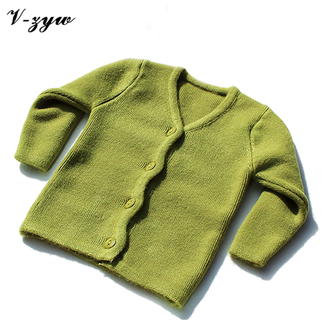 Autumn and Winter Warm Thick Cardigan Newborn Baby Sweater Wool Knitted Baby Clothing Fashion Coat Solid Open Stitch For Kids