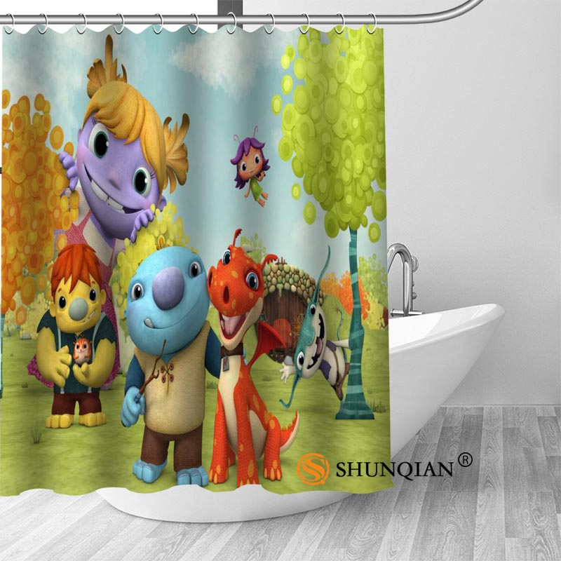 wallykazam Bath Curtain 100% polyester Fabric Shower Curtain bathroom beautiful Bath decor Print your picture