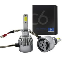 Turbo automotivo 24v 6000k c6 h1 luces diodo emissor de luz para lâmpadas de carro farol farol farol farol distante avto luzes chip