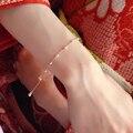 Pulseira de ouro-Enchimento De Pérolas Mulheres Flawless Freshwater Pearl Pulseira Clássico Com Ouro Lady Clover Charme Pulseira de Pérolas de Jóias