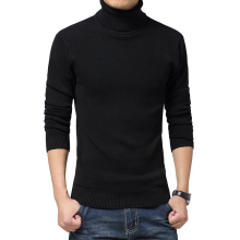 solid slim fit pullover men gray white sweater men brand 2016 M-XXL male turtleneck men sweater pull homme marque sueter hombre