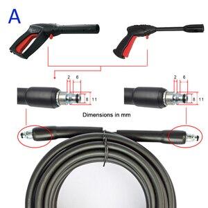 Image 2 - 6 ~ 15m myjka ciśnieniowa woda z węża do czyszczenia rura wąż przewód myjnia samochodowa przedłużenie węża wysokiego ciśnienia wąż z tworzywa sztucznego dla Bosch