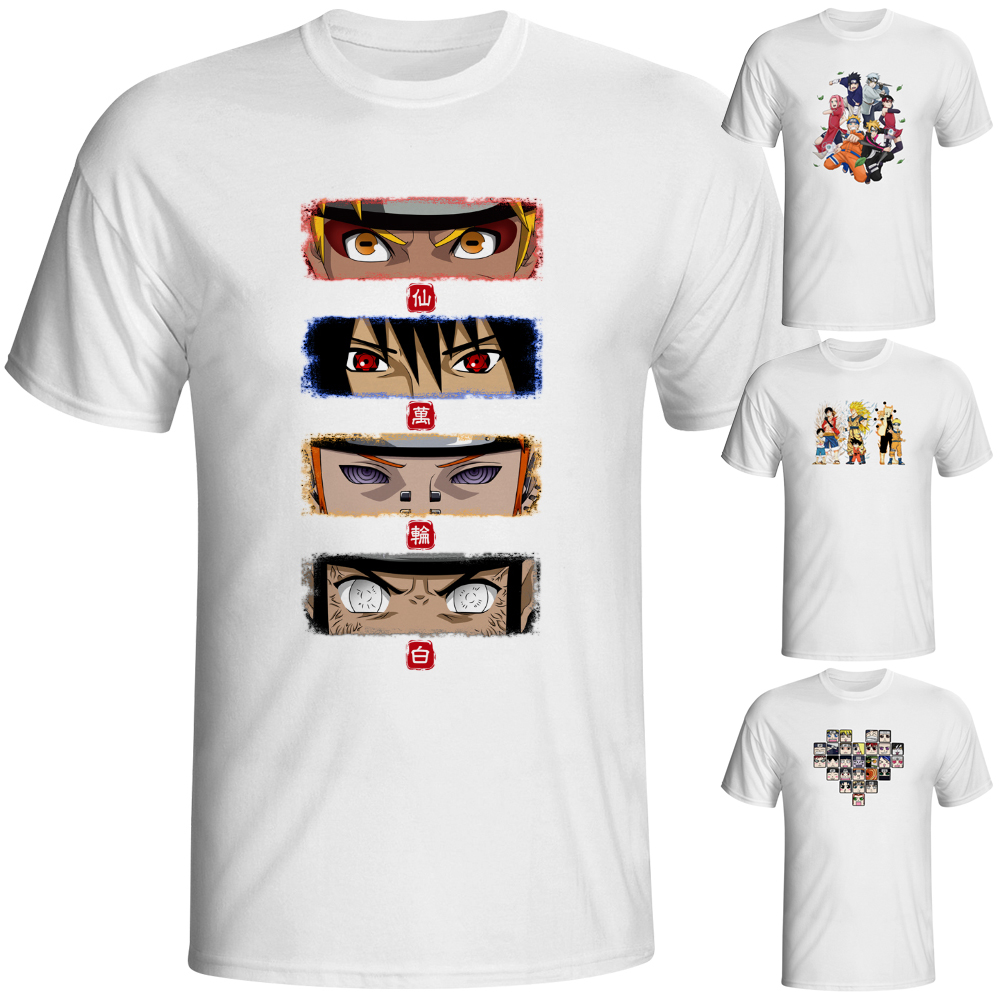 Design t shirt brand - Naruto Eyes And Akatsuki Team T Shirt Japanese Anime Design T Shirt Fashion Novelty Style