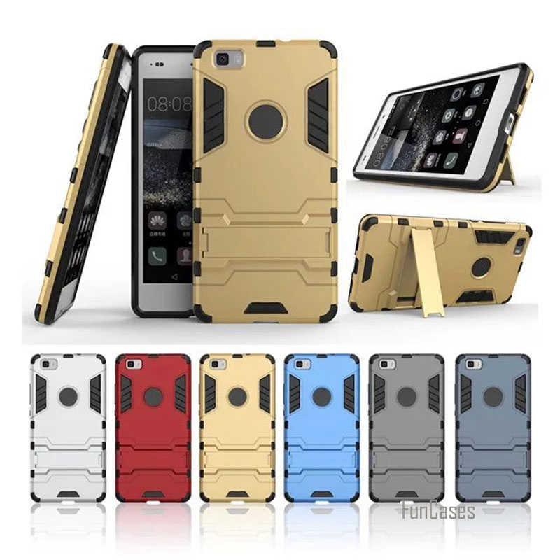 """P8Lite per Huawei P8 Lite Custodie Hybrid Dual Heavy Duty Dura Del Silicone Armatura per Il Caso di Huawei Ascend P8 Lite Del Telefono borsette Stile 5"""""""