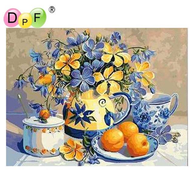 Dpf Minyak Tanpa Bingkai Lukisan Digital Dengan Angka Buah