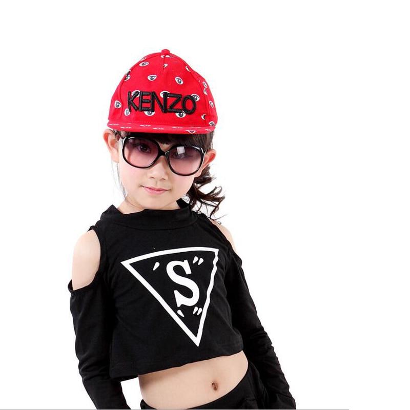 567e85ee37480 Niños negro hip hop danza Niñas Jazz tap dancing Tops + Pantalones Ropa de baile  Salón party Dance wear trajes en Salón de baile de La novedad y de uso ...