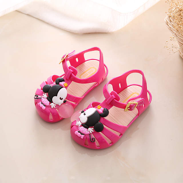 Online Shop Mini Melissa Mickey   Minnie Children S Sandals Slippers 2018  Summer Boys Girls Sandals Children Slip Sandals Beach Sandals  e317c028c193