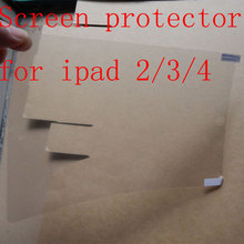 1pcs  Clear Screen Protector Guards Protective Films For iPad 2  for iPad 3 for iPad 4 Front LCD Screen Guard