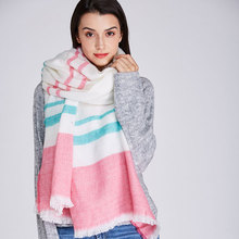 Фотография 2017 new Winter Plaid Scarf for Women Warm Cashmere Stole Brand Shawl and Thick  Wool Blanket and Wraps