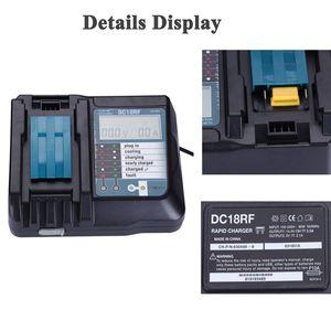 Image 2 - 14.4V 18V Li Ion Battery Charger Voltage Current Lcd Digital Display For Makita Dc18Rf Bl1830 Bl1815 Bl1430 Dc14Sa Dc18Sc Dc18